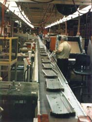 Amorbelt can run continuously, index, or be run by hand for assembly line production.