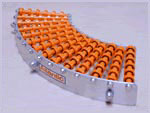 Trackwheel is designed for handling conveyor curves and bends.