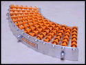 Trakwheel conveyors are specifically designed for curves and bends in conveyors.