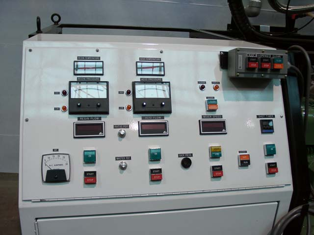 This is a close up of the control console with a stowed remote control unit.