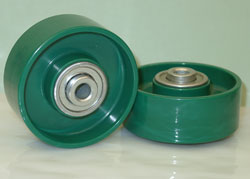 Pallet Flow Wheels designed for gravity flow racks and dynamic FIFO racks.