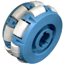 This picture is of the 4202KXU model Transwheel with the urethane rollers.