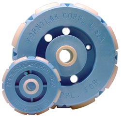 Transwheels come in two diameters 2 inches and 4 inches.